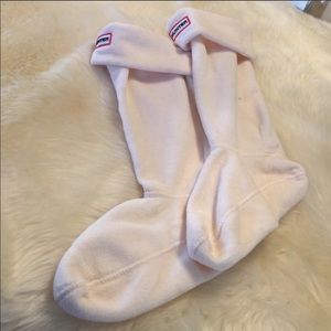 Hunter socks tall woman cream color